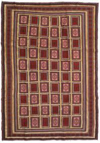 Kilim Golbarjasta Rug 197X270 Authentic  Oriental Handwoven Dark Red/Dark Brown (Wool, Afghanistan)