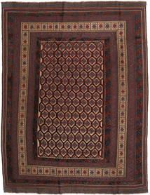 Kilim Golbarjasta Rug 203X264 Authentic  Oriental Handwoven Dark Brown/Dark Red (Wool, Afghanistan)