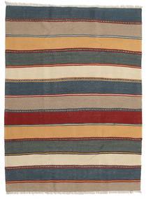 Kilim Rug 142X192 Authentic Oriental Handwoven Dark Beige/Light Blue (Wool, Persia/Iran)
