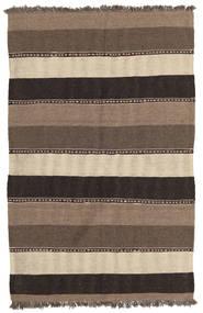 Kilim Rug 85X130 Authentic  Oriental Handwoven Brown/Light Grey/Dark Grey (Wool, Persia/Iran)