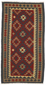 Kilim Maimane Rug 102X194 Authentic  Oriental Handwoven Dark Grey/Light Brown (Wool, Afghanistan)