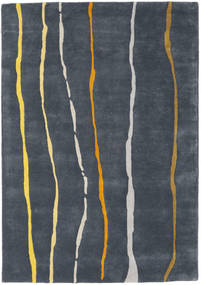 Flaws Handtufted - Grey Rug 140X200 Modern Dark Grey/Dark Blue (Wool, India)