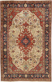 Tabriz Rug 197X312 Authentic  Oriental Handknotted Dark Brown/Light Brown (Wool, Persia/Iran)