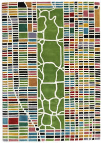 New-York/Manhattan Handtufted - Multi Rug 140X200 Modern Beige/Olive Green (Wool, India)