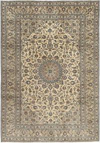 Keshan Patina Rug 242X350 Authentic  Oriental Handknotted Light Grey/Light Brown (Wool, Persia/Iran)
