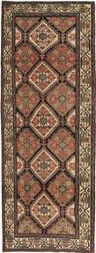 Hamadan Patina Rug 105X285 Authentic Oriental Handknotted Hallway Runner Brown/Dark Grey (Wool, Persia/Iran)