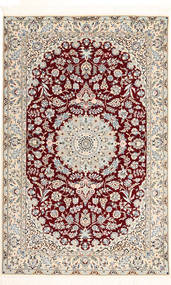 Nain 6La Habibian Rug 120X190 Authentic Oriental Handknotted Light Grey/Dark Red (Wool/Silk, Persia/Iran)
