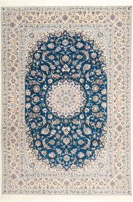 Nain 6La Habibian Rug 204X304 Authentic Oriental Handknotted Light Grey/White/Creme (Wool/Silk, Persia/Iran)