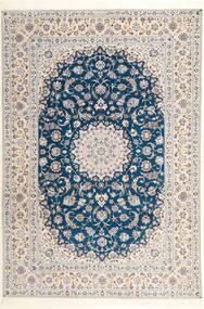 Nain 6La Habibian Rug 204X304 Authentic  Oriental Handknotted Light Grey/White/Creme (Wool/Silk, Persia/Iran)