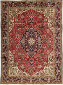 Tabriz Rug 245X327 Authentic  Oriental Handknotted Dark Brown/Dark Red (Wool, Persia/Iran)