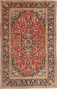 Keshan Rug 197X303 Authentic  Oriental Handknotted Dark Red/Crimson Red (Wool, Persia/Iran)