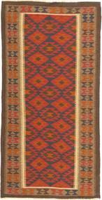 Kilim Maimane Rug 100X202 Authentic  Oriental Handwoven Brown/Orange (Wool, Afghanistan)