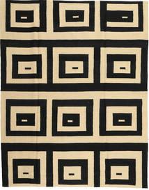 Kilim Modern Rug 180X225 Authentic  Modern Handknotted Black/Light Brown (Wool, Afghanistan)