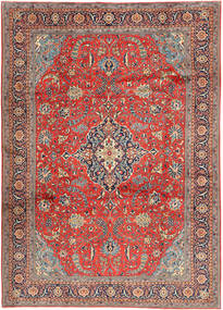 Sarouk Rug 240X340 Authentic  Oriental Handknotted Rust Red/Light Brown (Wool, Persia/Iran)