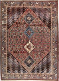 Yalameh Rug 252X349 Authentic  Oriental Handknotted Dark Brown/Dark Red Large (Wool, Persia/Iran)