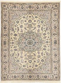 Nain 6La Habibian Rug 144X198 Authentic Oriental Handknotted Light Grey/Beige (Wool/Silk, Persia/Iran)