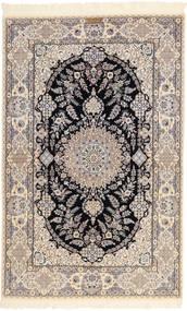 Nain 6La Habibian Rug 131X204 Authentic  Oriental Handknotted Light Grey/Beige (Wool/Silk, Persia/Iran)
