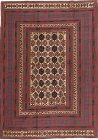 Kilim Golbarjasta Rug 189X260 Authentic  Oriental Handwoven Dark Red/Dark Brown (Wool, Afghanistan)