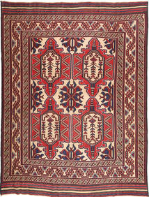 Kilim Golbarjasta Rug 209X281 Authentic  Oriental Handwoven Dark Brown/Dark Red (Wool, Afghanistan)