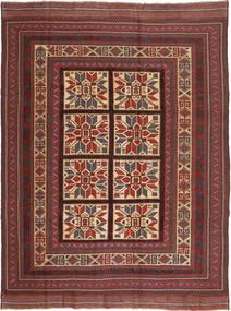 Kilim Golbarjasta Rug 197X275 Authentic  Oriental Handwoven Dark Red/Dark Brown (Wool, Afghanistan)