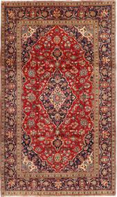Keshan Rug 195X333 Authentic  Oriental Handknotted Dark Red/Rust Red (Wool, Persia/Iran)