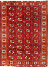 Turkaman Rug 198X277 Authentic  Oriental Handknotted Dark Red/Rust Red (Wool, Persia/Iran)