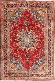 Mashad Rug 197X295 Authentic  Oriental Handknotted Rust Red/Dark Red (Wool, Persia/Iran)