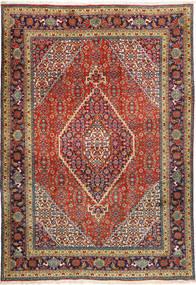Tabriz Rug 207X298 Authentic  Oriental Handknotted Dark Grey/Dark Red (Wool, Persia/Iran)