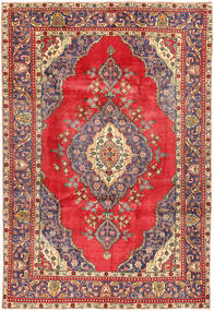 Tabriz Rug 208X310 Authentic  Oriental Handknotted Dark Red/Crimson Red (Wool, Persia/Iran)