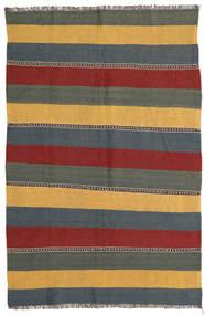 Kilim Rug 132X198 Authentic  Oriental Handwoven Blue/Dark Red (Wool, Persia/Iran)