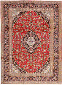 Keshan Rug 250X340 Authentic  Oriental Handknotted Light Brown/Rust Red Large (Wool, Persia/Iran)