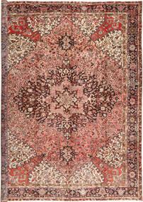 Heriz Rug 345X445 Authentic  Oriental Handknotted Light Brown/Dark Brown Large (Wool, Persia/Iran)