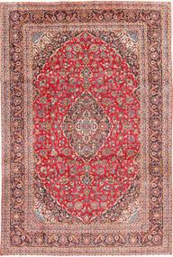 Keshan Rug 241X368 Authentic  Oriental Handknotted Brown/Rust Red (Wool, Persia/Iran)