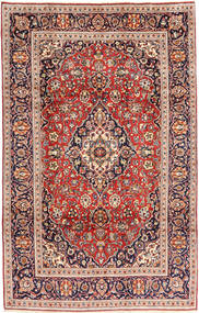Keshan Rug 195X305 Authentic  Oriental Handknotted Brown/Beige (Wool, Persia/Iran)