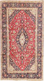 Keshan Rug 185X343 Authentic  Oriental Handknotted Rust Red/Dark Beige (Wool, Persia/Iran)