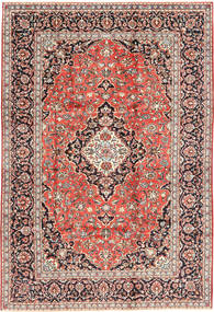 Keshan Rug 202X300 Authentic  Oriental Handknotted Light Brown/Dark Red (Wool, Persia/Iran)