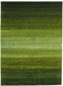 Gabbeh Rainbow - Green Rug 210X290 Modern Dark Green/Olive Green (Wool, India)