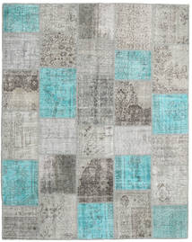 Patchwork Rug 201X252 Authentic  Modern Handknotted Light Grey/Turquoise Blue (Wool, Turkey)