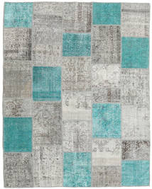 Patchwork Rug 200X252 Authentic  Modern Handknotted Light Grey/Turquoise Blue (Wool, Turkey)
