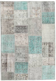 Patchwork Rug 159X231 Authentic  Modern Handknotted Light Grey/Turquoise Blue (Wool, Turkey)