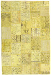 Patchwork Rug 198X300 Authentic  Modern Handknotted Yellow (Wool, Turkey)