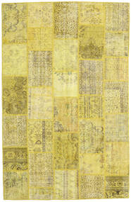 Patchwork Rug 200X307 Authentic  Modern Handknotted Yellow/Olive Green (Wool, Turkey)