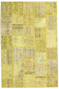 Patchwork Rug 200X304 Authentic  Modern Handknotted Yellow/Olive Green (Wool, Turkey)
