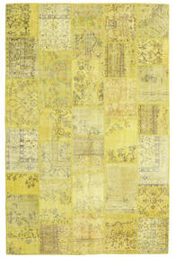 Patchwork Rug 200X303 Authentic  Modern Handknotted Yellow/Olive Green (Wool, Turkey)