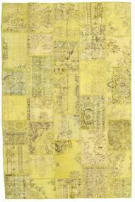 Patchwork Rug 199X298 Authentic  Modern Handknotted Yellow/Olive Green (Wool, Turkey)