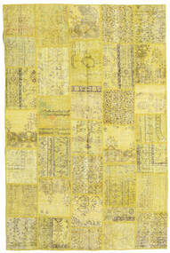 Patchwork Rug 197X298 Authentic  Modern Handknotted Yellow/Olive Green (Wool, Turkey)
