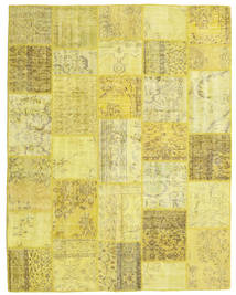 Patchwork Rug 200X253 Authentic  Modern Handknotted Yellow/Olive Green (Wool, Turkey)