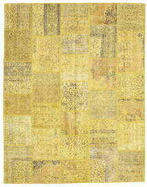 Patchwork Rug 199X254 Authentic  Modern Handknotted Yellow/Dark Beige/Olive Green (Wool, Turkey)
