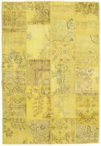 Patchwork Rug 160X233 Authentic  Modern Handknotted Yellow/Dark Beige (Wool, Turkey)