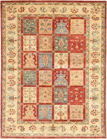 Ziegler Rug 172X235 Authentic  Oriental Handknotted Dark Beige/Crimson Red/Beige (Wool, India)
